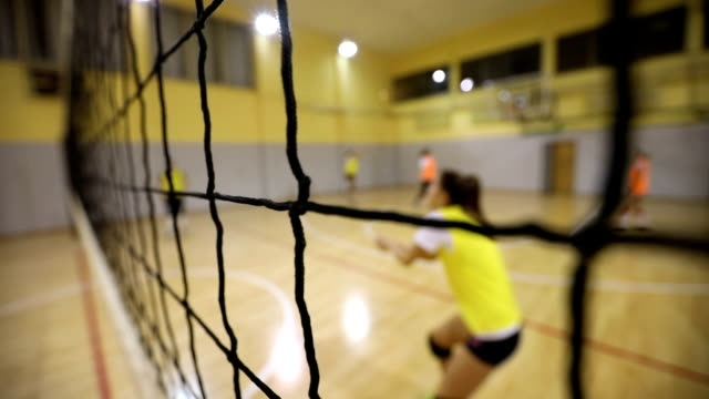 frauen volleyball training - volleyballnetz stock-videos und b-roll-filmmaterial