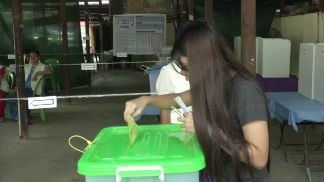 Women vote at a polling station in Yangon during Myanmar's first free and fair election The elections will be Myanmar's first openly contested polls...
