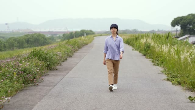 women walking on road - jp201806 stock videos and b-roll footage
