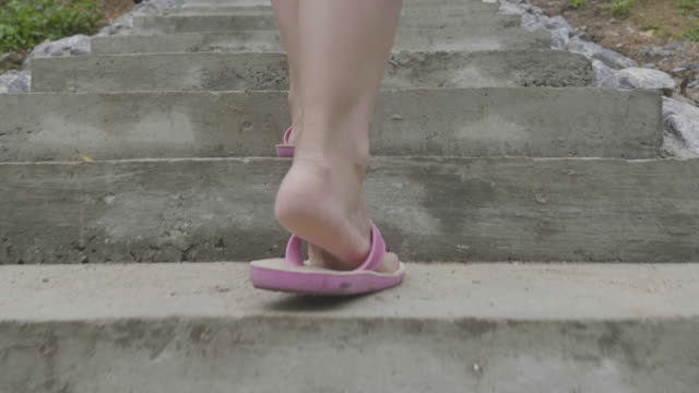 women walking up the stairs - steps and staircases stock videos & royalty-free footage