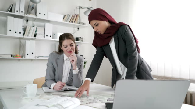 women with the plan - middle east stock videos & royalty-free footage