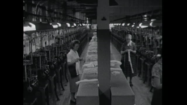women work in sock and stocking factory - tights stock videos & royalty-free footage