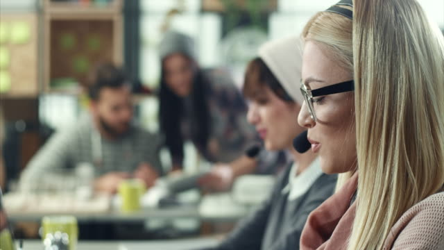 women working in call center - it support stock videos & royalty-free footage
