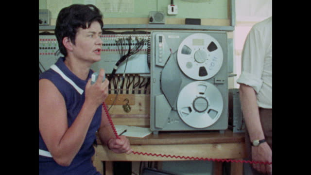 1969 women working in engineering - control panel stock videos & royalty-free footage