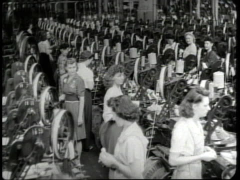 1950 montage women working in factories / united states - canning stock videos & royalty-free footage