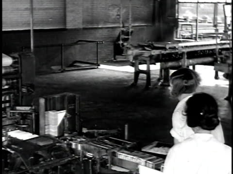 1929 montage women working in paraffin factory / united states - 1929 stock videos & royalty-free footage