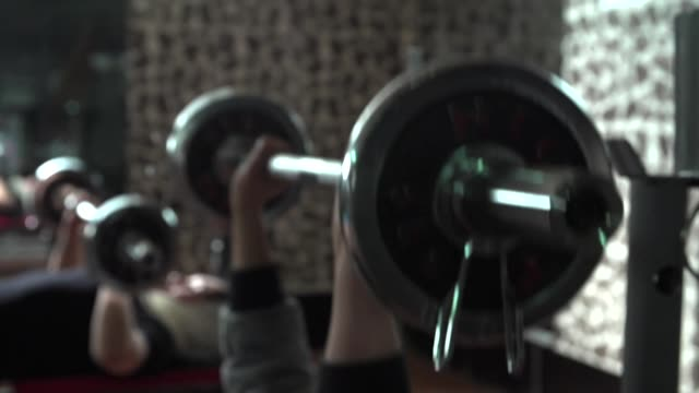 women working out at bodybuilding gym in kabul - weights stock videos & royalty-free footage