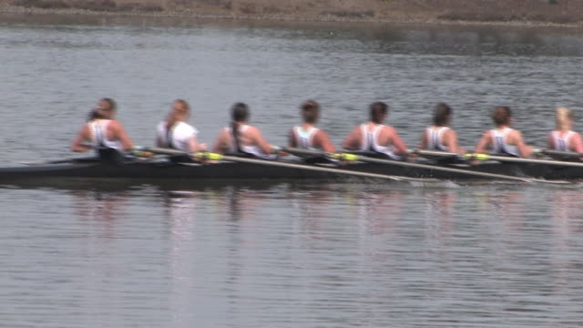 women's 8-person rowing team - rowing stock videos & royalty-free footage