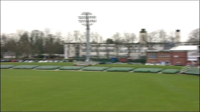 women's ashes 2014 england retain the ashes with twenty20 win england kent kent county cricket club ext general view of empty pitch pan jamie... - kent england stock videos & royalty-free footage