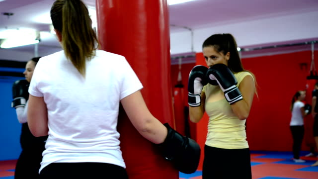 women's boxing training - punch bag stock videos and b-roll footage