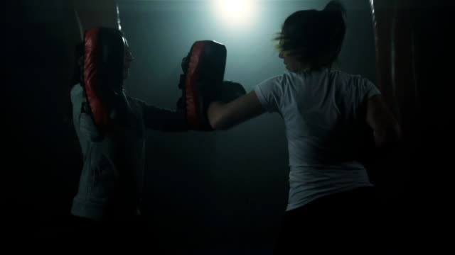 women's boxing training - kickboxing stock videos and b-roll footage