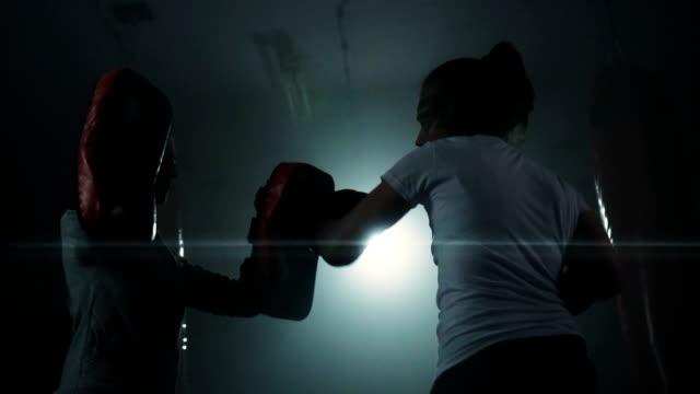 Frauen Boxen training