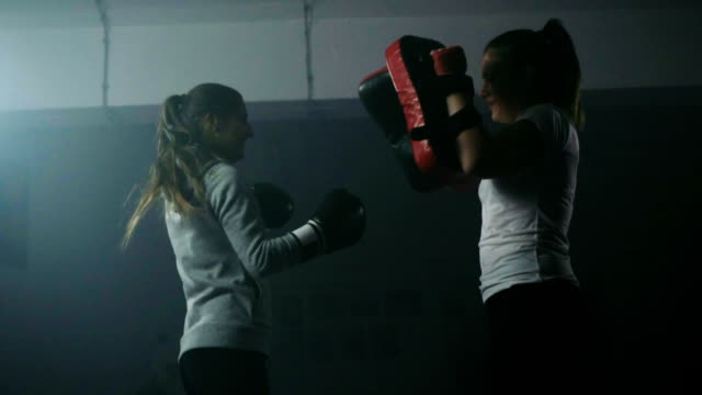 women's boxing training - potere femminile video stock e b–roll