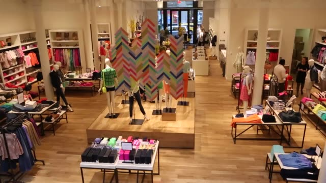 women's clothing, designer clothing j crew store - spring collection on february 11, 2013 in new york, new york - designer clothing stock videos & royalty-free footage