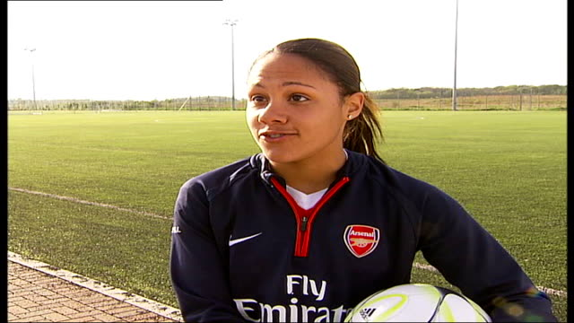 Women's Cup Final Arsenal Ladies first British team to make it to final Alex Scott interview SOT