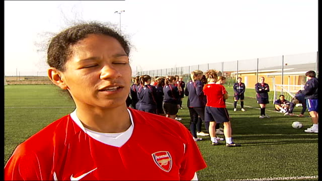 Women's Cup Final Arsenal Ladies first British team to make it to final Mary Phillip interview SOT