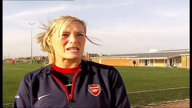 Women's Cup Final Arsenal Ladies first British team to make it to final Emma Byrne interview SOT