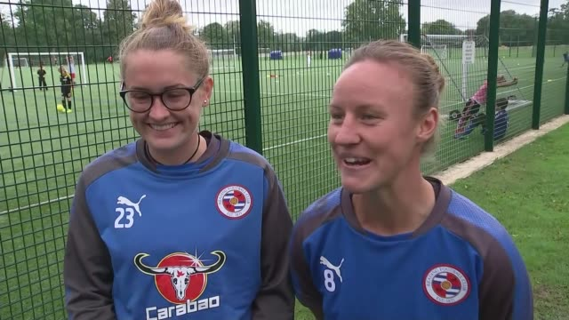 Women's Euro 2017 England lose to Netherlands in semi final ENGLAND Berkshire Reading EXT Remi Allen and Rachel Rowe onto training pitch and...