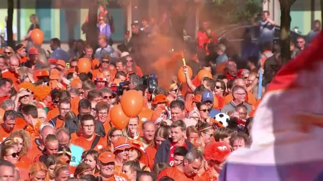 Women's Euro 2017 England lose to Netherlands in semi final Enschede Crowds of Dutch fans arriving at stadium ahead of Netherlands v England Women's...