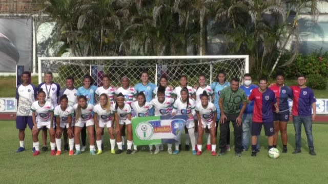 women's football team irandubaam from brazil prepares to head back to the pitch but with a new makeup as it faces a financial crisis after its... - head back stock videos & royalty-free footage