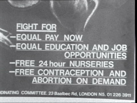 women's liberation movement england london ideas of womens lib 'equal pay' vox pop well the government has committed in theory to equal pay but the... - paying stock videos & royalty-free footage