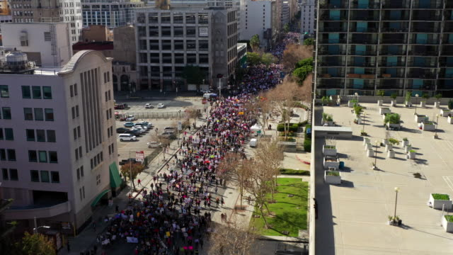women's march 2020 los angeles - demonstration stock videos & royalty-free footage