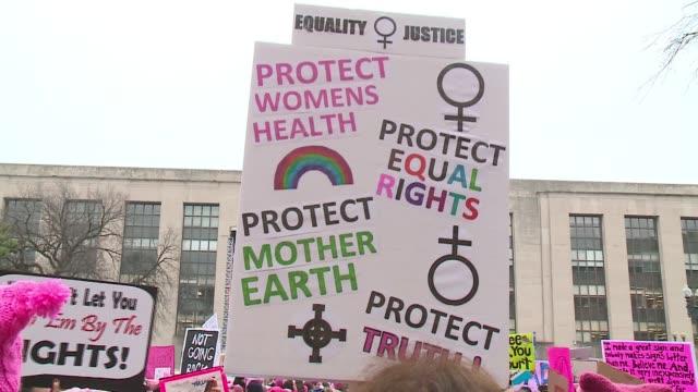 WGN Women's March in Washington DC on Jan 21 2017