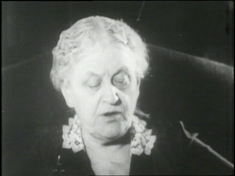 women's rights activist carrie chapman catt talks about women's rights. - speech stock videos & royalty-free footage