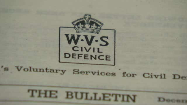 women's royal voluntary service wartime diaries put online england int close shot of wwii women's royal voluntary service newsletter close shot of... - newsletter stock videos & royalty-free footage