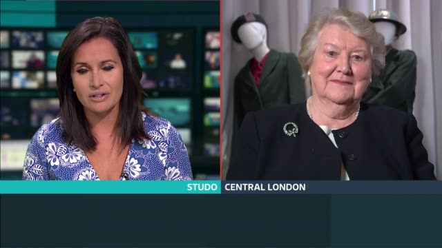 women's royal voluntary service wartime diaries put online england london gir int dame patricia routledge 2 way interview from central london sot - patricia routledge stock videos & royalty-free footage