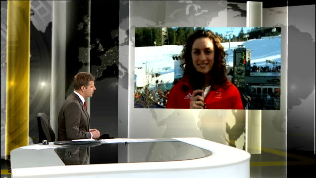 women's skeleton amy williams wins gold medal amy williams interview sot i was so excited to see them and how excited they were / i wanted to be good... - itv weekend late news点の映像素材/bロール
