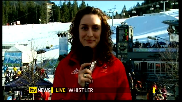 women's skeleton amy williams wins gold medal amy williams interview sot i encourage everyone to take it up - itv weekend late news点の映像素材/bロール