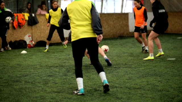 women's soccer is fun - indoor soccer stock videos & royalty-free footage