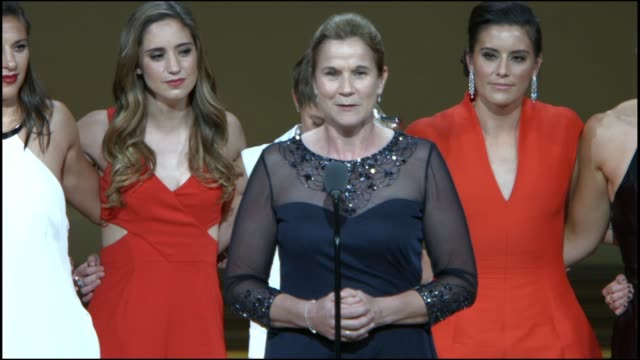Women's Soccer Team accept an award at Glamour Magazine's 25th Annual Women Of The Year Awards at Carnegie Hall on November 09 2015 in New York City