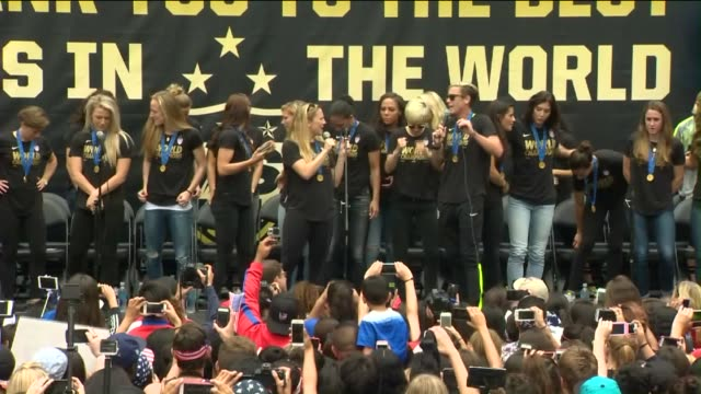 S Women's Soccer Team Celebrated It's World Cup Victory on June 7 2015