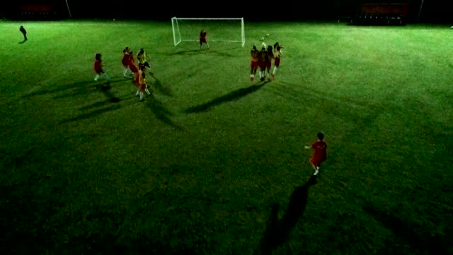 women's soccer team training on soccer field - soccer competition stock videos & royalty-free footage