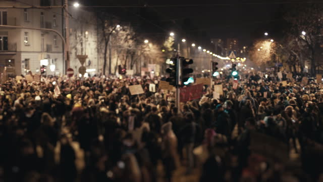 women's strike in poland. fighting against abortion ban - warsaw stock videos & royalty-free footage