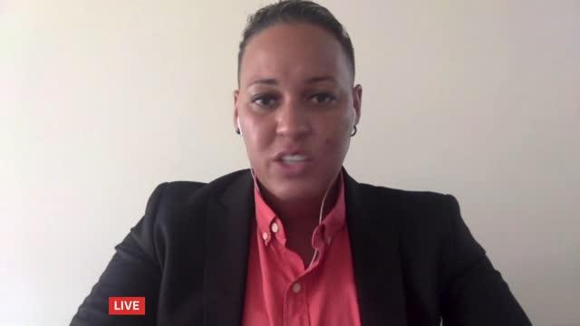 former chelsea player lianne sanderson interview; england: int lianne sanderson live 2-way interview via internet sot - europe stock videos & royalty-free footage