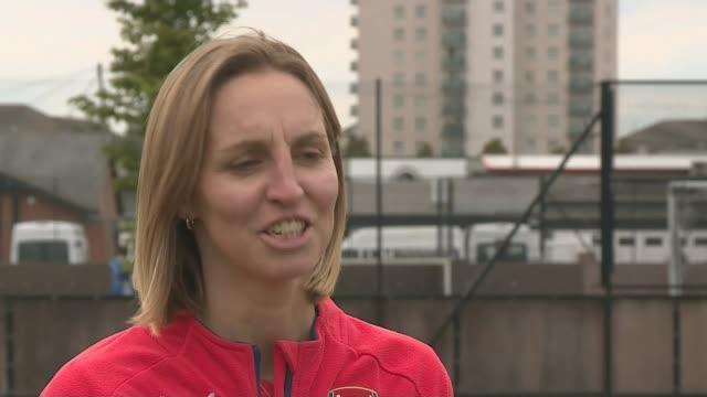 Women's World Cup 2015 England reach quarter finals ENGLAND London Faye White interview SOT