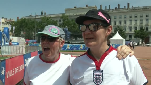 women's world cup 2019 england lose to united states in semi final france auvergnerhônealpes lyon ext england fans towards vox pops various england... - auvergne rhône alpes stock videos & royalty-free footage