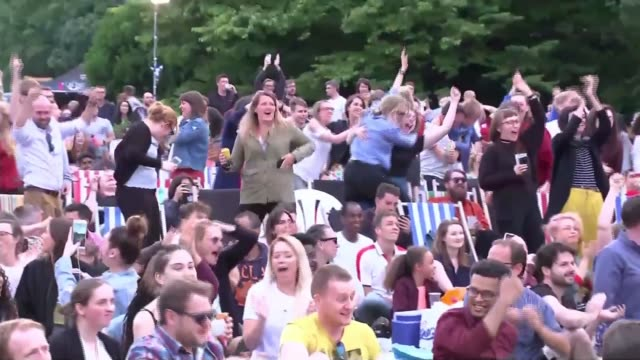 women's world cup 2019 england's achievements help to promote the women's sport england london battersea park ext various shots of crowd watching... - international match stock videos & royalty-free footage