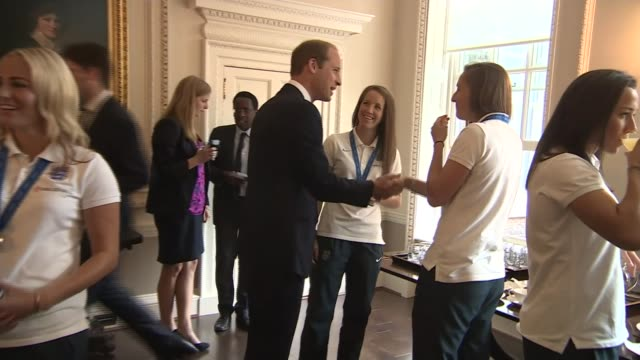 Women's World Cup England women praised after returning home ENGLAND London Kensington Kensington Palace INT Various of Prince William the Duke of...