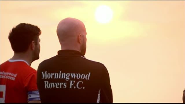 Women's World Cup Preview to England's semi final match against Japan BV Morningwood Rovers players shouting for the England England women's squad in...