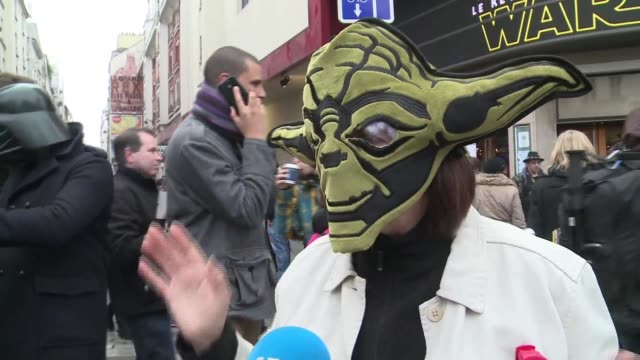 the first fans in paris to see the new star wars film give their thoughts on the latest episode in the epic saga - epic film stock videos & royalty-free footage