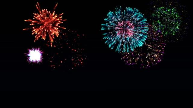 4k wonderful firework background - finishing stock videos & royalty-free footage