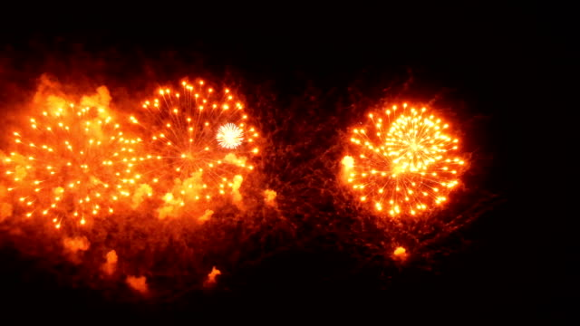 4k wonderful firework for background - anniversary stock videos & royalty-free footage