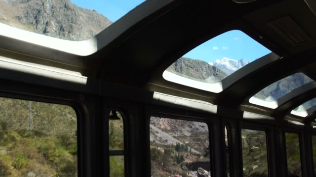 wonderful view from the train between cusco and puno - machu picchu stock videos and b-roll footage