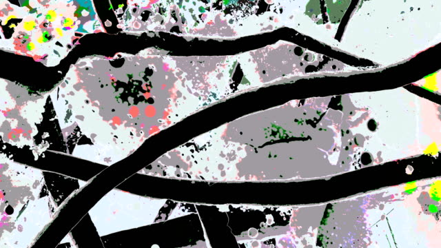 the other move : wonderland flowerdjungle - easygoing, gray background (loop) - spray painting stock videos & royalty-free footage