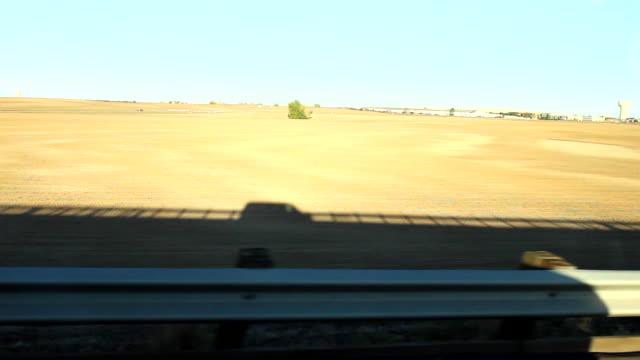 wonderlust - usa, road trip, shadow of campervan driving across the great plains - great plains stock videos & royalty-free footage