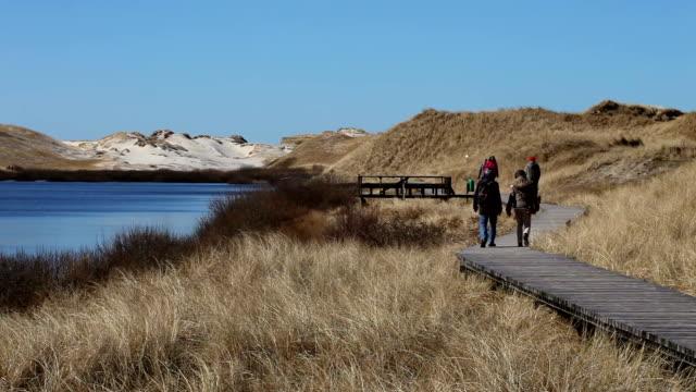 wood bridge with people in amrum (germany) - north frisian islands stock videos & royalty-free footage